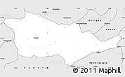Silver Style Simple Map of Pouni