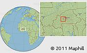 Savanna Style Location Map of Reo