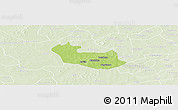 Physical Panoramic Map of Tenado, lighten