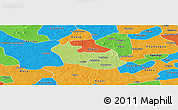 Physical Panoramic Map of Tenado, political outside
