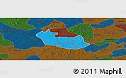 Political Panoramic Map of Tenado, darken