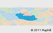 Political Panoramic Map of Tenado, lighten