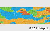 Political Panoramic Map of Tenado