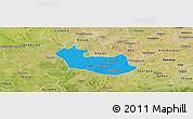 Political Panoramic Map of Tenado, satellite outside