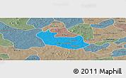 Political Panoramic Map of Tenado, semi-desaturated