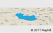 Political Panoramic Map of Tenado, shaded relief outside