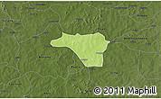Physical 3D Map of Zawara, darken