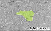 Physical 3D Map of Zawara, desaturated