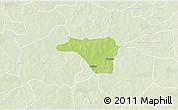 Physical 3D Map of Zawara, lighten