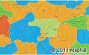 Physical 3D Map of Zawara, political outside