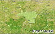 Physical 3D Map of Zawara, satellite outside