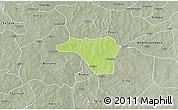 Physical 3D Map of Zawara, semi-desaturated