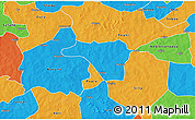 Political 3D Map of Zawara
