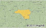 Savanna Style 3D Map of Zawara
