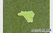 Physical Map of Zawara, darken