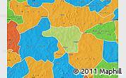 Physical Map of Zawara, political outside