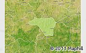 Physical Map of Zawara, satellite outside