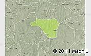 Physical Map of Zawara, semi-desaturated