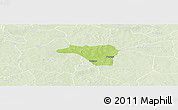 Physical Panoramic Map of Zawara, lighten