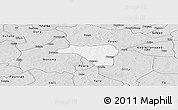 Silver Style Panoramic Map of Zawara