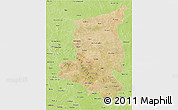 Satellite 3D Map of Sanmatenga, physical outside