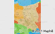 Satellite 3D Map of Sanmatenga, political shades outside