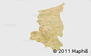 Satellite 3D Map of Sanmatenga, single color outside