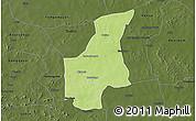 Physical 3D Map of Barsalogho, darken