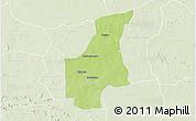 Physical 3D Map of Barsalogho, lighten