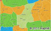 Physical 3D Map of Barsalogho, political outside