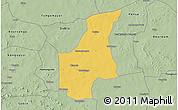 Savanna Style 3D Map of Barsalogho