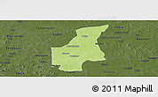 Physical Panoramic Map of Barsalogho, darken
