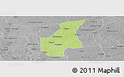 Physical Panoramic Map of Barsalogho, desaturated