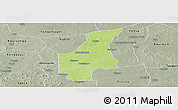 Physical Panoramic Map of Barsalogho, semi-desaturated