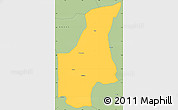 Savanna Style Simple Map of Barsalogho
