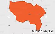 Political Simple Map of Boussouma, cropped outside