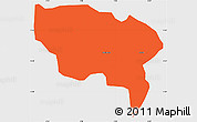 Political Simple Map of Boussouma, single color outside