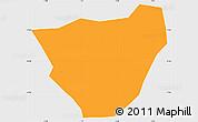 Political Simple Map of Dablo, single color outside