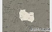 Shaded Relief Map of Kaya, darken