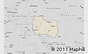 Shaded Relief Map of Kaya, desaturated