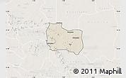 Shaded Relief Map of Kaya, lighten