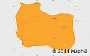 Political Simple Map of Kaya, single color outside