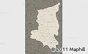 Shaded Relief Map of Sanmatenga, darken