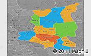 Political Panoramic Map of Sanmatenga, desaturated