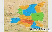 Political Panoramic Map of Sanmatenga, satellite outside