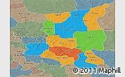 Political Panoramic Map of Sanmatenga, semi-desaturated