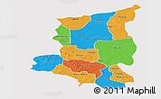 Political Panoramic Map of Sanmatenga, single color outside