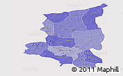 Political Shades Panoramic Map of Sanmatenga, cropped outside