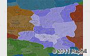 Political Shades Panoramic Map of Sanmatenga, darken