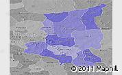 Political Shades Panoramic Map of Sanmatenga, desaturated